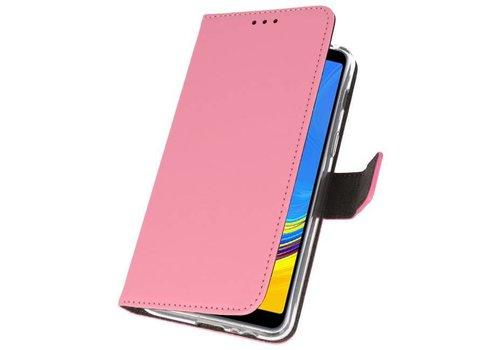 Wallet Cases Hoesje voor Galaxy A7 (2018) Roze