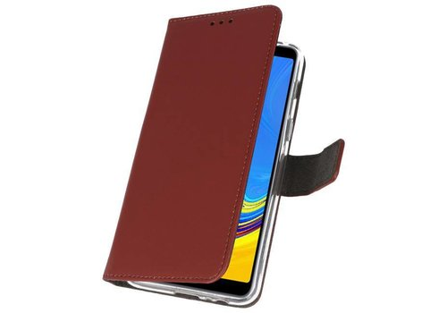 Wallet Cases Hoesje voor Galaxy A7 (2018) Bruin