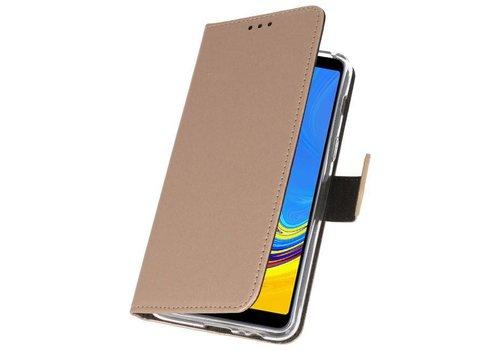 Wallet Cases Hoesje voor Galaxy A7 (2018) Goud