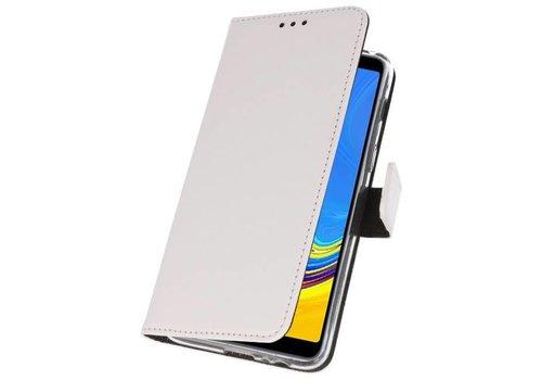 Wallet Cases Hoesje voor Galaxy A7 (2018) Wit