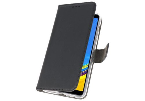 Wallet Cases Hoesje voor Galaxy A7 (2018) Zwart