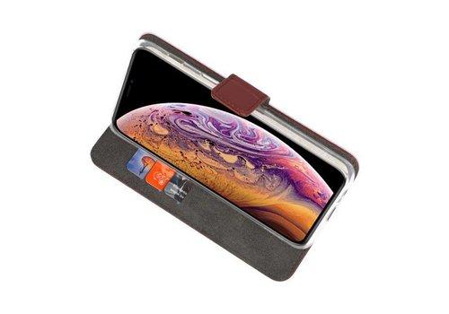 Wallet Cases Hoesje voor iPhone XS Max Bruin