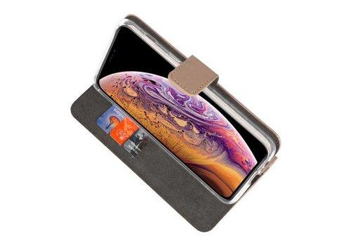 Wallet Cases Hoesje voor iPhone XS Max Goud