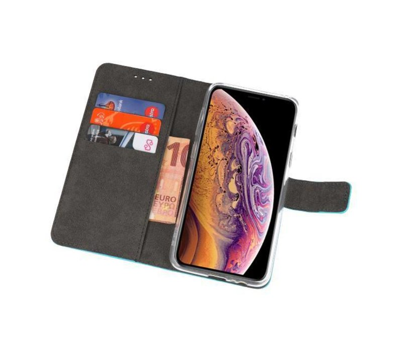 Wallet Cases Hoesje voor iPhone XS Max Blauw