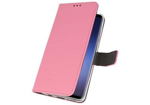 Wallet Cases Hoesje voor Galaxy S9 Plus Roze