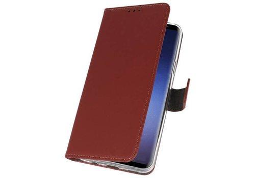 Wallet Cases Hoesje voor Galaxy S9 Plus Bruin
