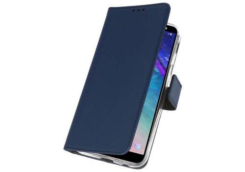 Wallet Cases Hoesje voor Galaxy A6 (2018) Navy