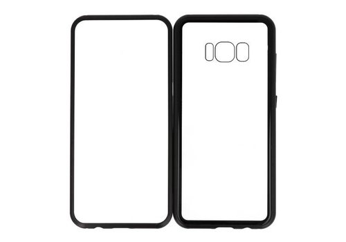 Magnetic Back Cover voor Galaxy S8 Zwart- Transparant