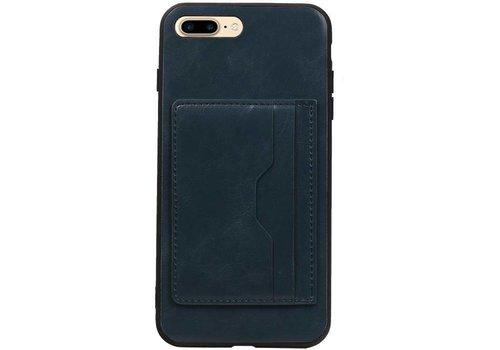 Staand Back Cover 2 Pasjes voor iPhone 8 Plus Navy