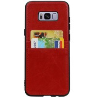 Back Cover 2 Pasjes voor Galaxy S8 Plus Rood