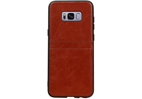 Back Cover 2 Pasjes voor Galaxy S8 Plus Bruin