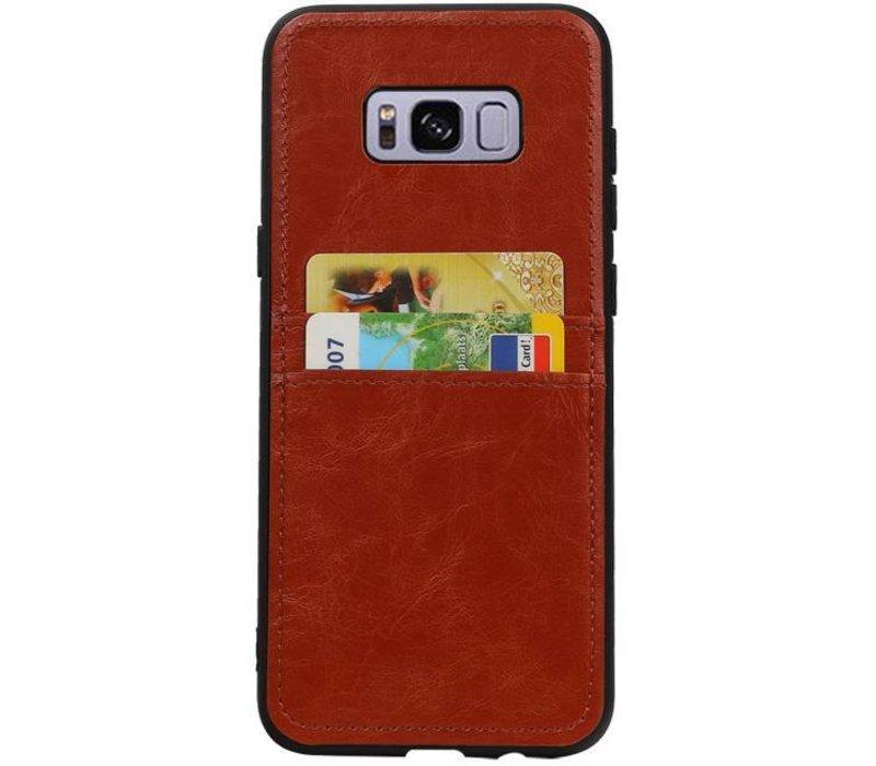 Back Cover 2 Pasjes voor Galaxy S8 Plus Bruin