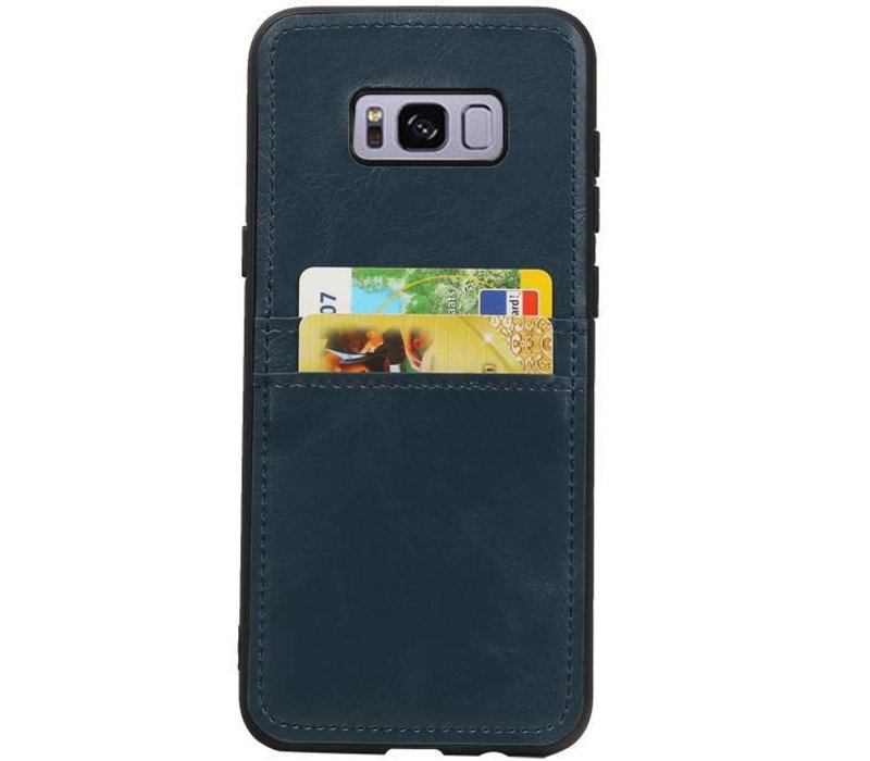 Back Cover 2 Pasjes voor Galaxy S8 Plus Navy