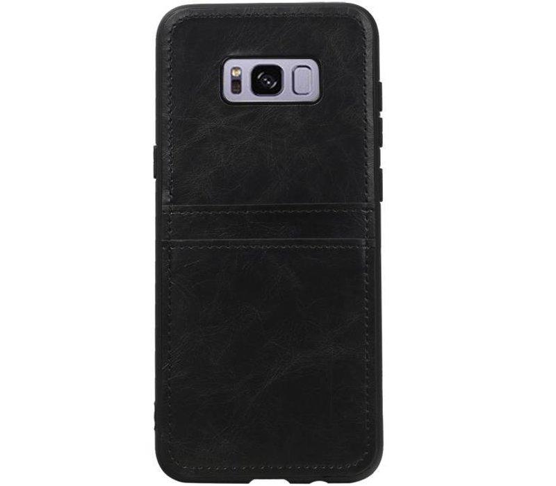 Back Cover 2 Pasjes voor Galaxy S8 Plus Zwart
