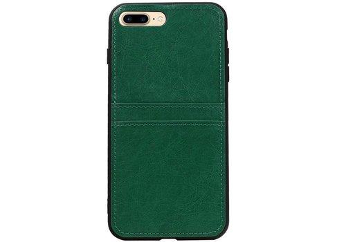 Back Cover 2 Pasjes voor iPhone 8 Plus Groen