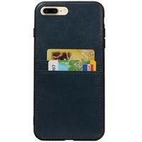 Back Cover 2 Pasjes voor iPhone 8 Plus Navy