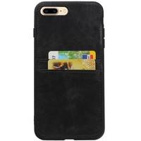 Back Cover 2 Pasjes voor iPhone 8 Plus Zwart