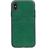 Back Cover 2 Pasjes voor iPhone X Groen