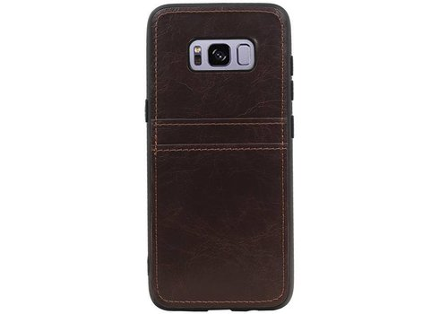 Back Cover 2 Pasjes voor Galaxy S8 Mocca