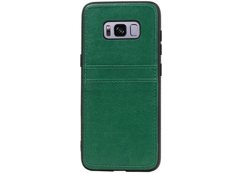 Back Cover 2 Pasjes voor Galaxy S8 Groen