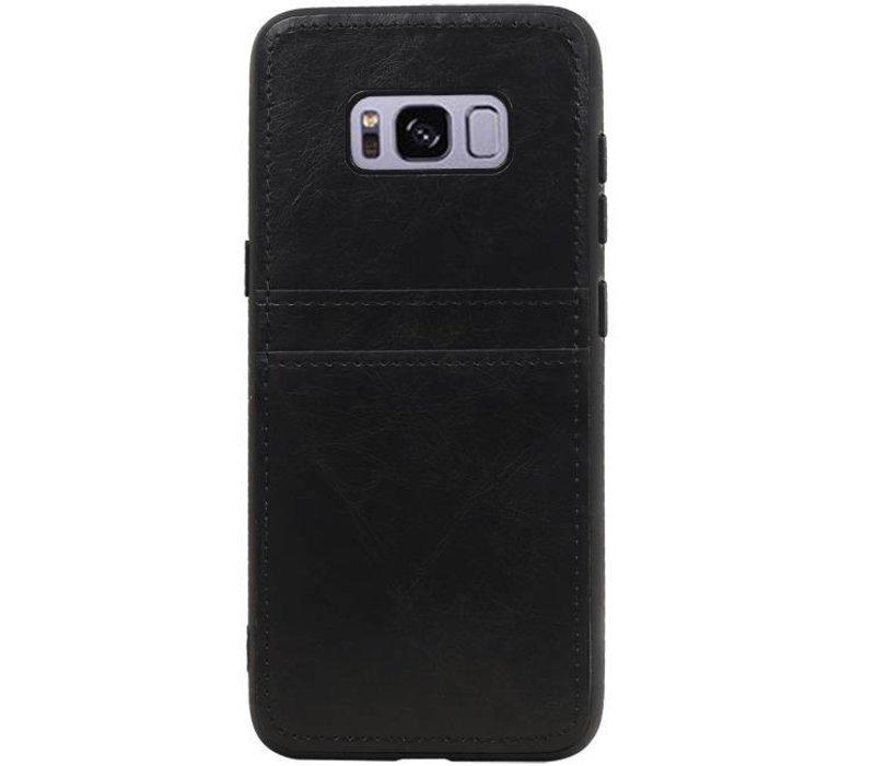 Back Cover 2 Pasjes voor Galaxy S8 Zwart