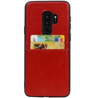 Back Cover 2 Pasjes voor Galaxy S9 Plus Rood