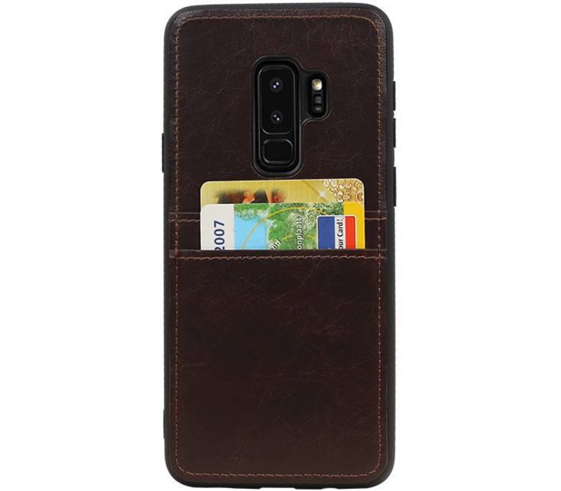 Back Cover 2 Pasjes voor Galaxy S9 Plus Mocca