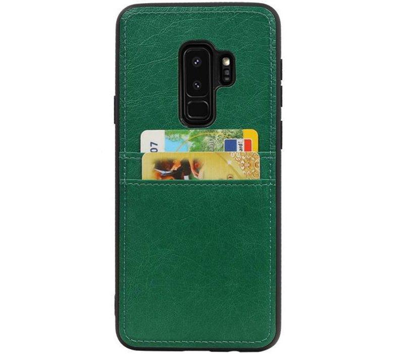 Back Cover 2 Pasjes voor Galaxy S9 Plus Groen