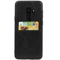 Back Cover 2 Pasjes voor Galaxy S9 Plus Zwart