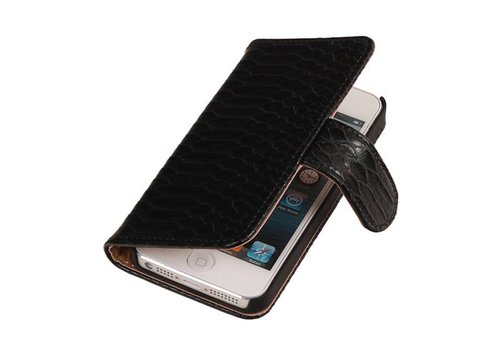 Snake Bookstyle Hoes voor iPhone 6 Plus Zwart