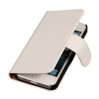 Bookstyle Hoes voor iPhone 6 Plus Wit