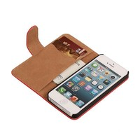 Bookstyle Hoes voor iPhone 6 Plus Rood