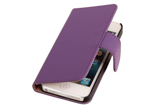 Bookstyle Hoes voor iPhone 6 Plus Paars