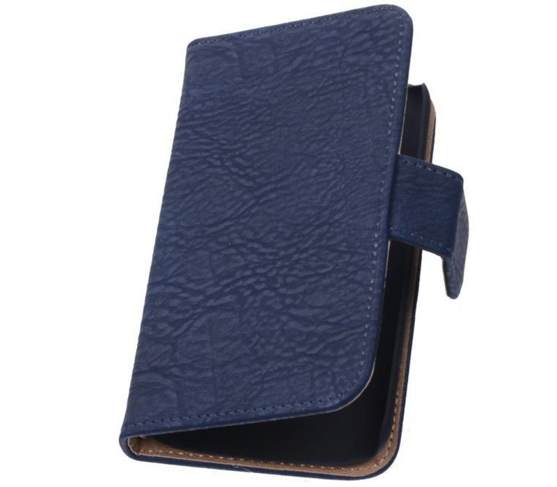 Bark Bookstyle Hoes voor iPhone 6 Plus Donker Blauw