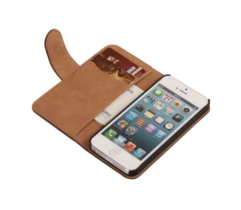 Bark Bookstyle Hoes voor iPhone 6 Donker Bruin