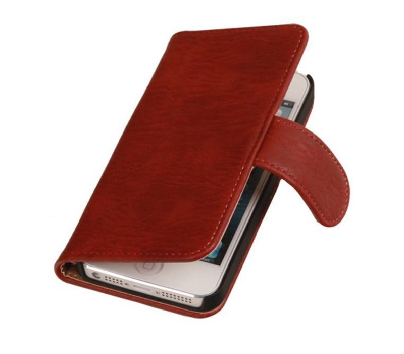 Bark Bookstyle Hoes voor iPhone 6 Red