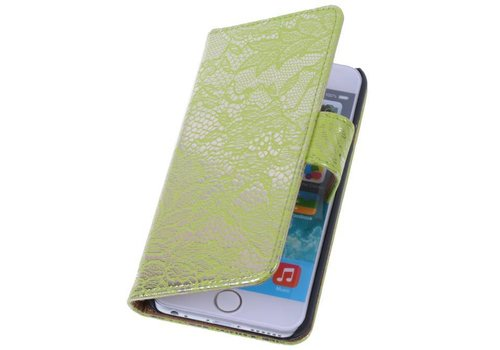 Lace Bookstyle Hoes voor iPhone 6 Groen