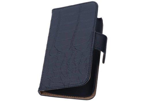 Croco Bookstyle Hoes voor iPhone 6 Zwart