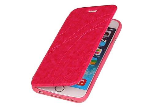 Easy Booktype hoesje voor iPhone 6 Roze