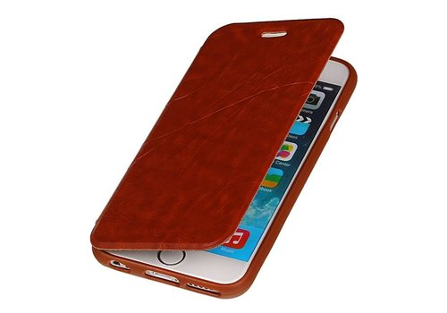 Easy Booktype hoesje voor iPhone 6 Bruin