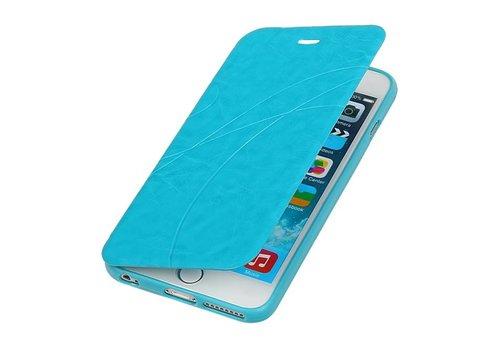 Easy Booktype hoesje voor iPhone 6 Plus Turquoise