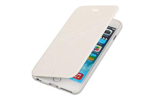 Easy Booktype hoesje voor iPhone 6 Plus Wit