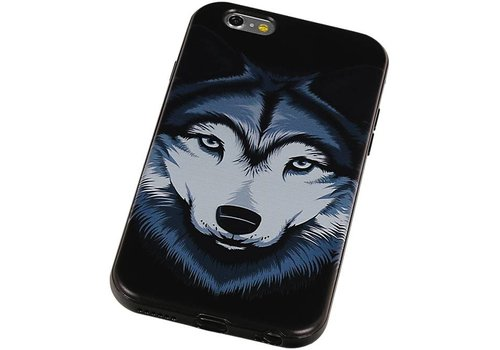 3D TPU Back Cover for iPhone 6 Plus Wolf