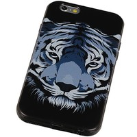 3D TPU Back Cover for iPhone 6 Plus Tijger