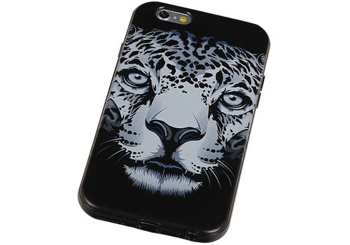 3D TPU Back Cover for iPhone 6 Plus Luipaard