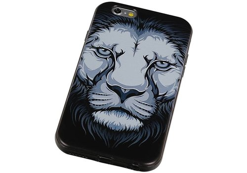 3D TPU Back Cover for iPhone 6 Plus Leeuw