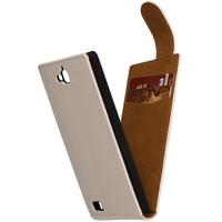 Classic Flip Hoes voor iPhone 6 Wit