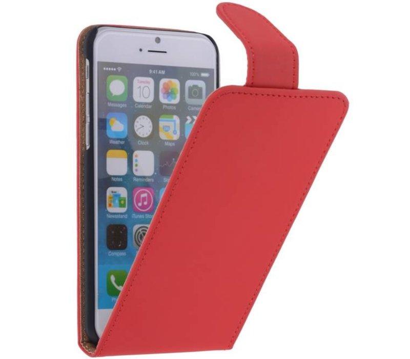 Classic Flip Hoes voor iPhone 6 Rood