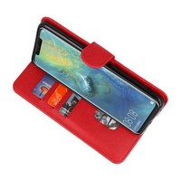 Bookstyle Wallet Cases Hoesje voor Huawei  Mate 20 Pro Rood