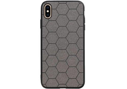 Hexagon Hard Case voor iPhone XS Max Grijs